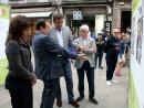 Caballero inaugurou a mostra fotográfica sobre a historia do baloncesto vigués fronte ao Museo Marco