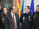 Caballero desexa moita sorte ao Celta Zorka na despedida oficial de Vigo ao equipo de baloncesto que vai loitar polo ascenso á elite